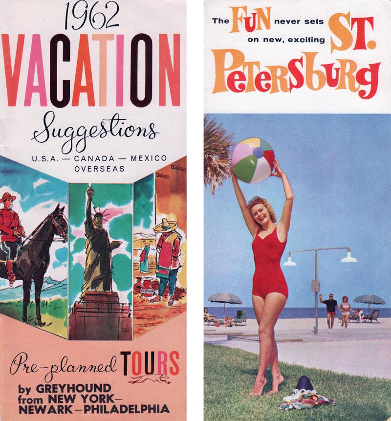 retro travel brochure