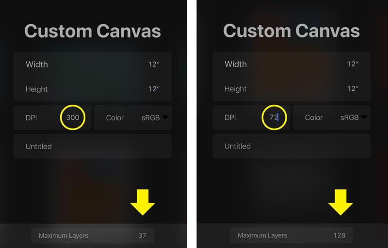 Procreate Custom Canvas
